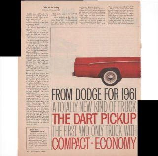 Dodge Dart Pickup Truck 1961 Model 2 Page 1960 Antique Automobile Advertisement  Prints
