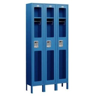 Salsbury Industries S 61000 Series 36 in. W x 78 in. H x 18 in. D Single Tier See Through Metal Locker Assembled in Blue S 61368BL A