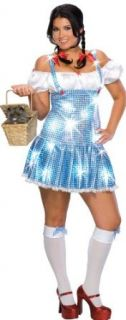 Secret Wishes Women's Plus Size Sequin Dorothy Costume, Blue/White, Plus Adult Sized Costumes Clothing