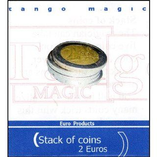 Stack of Coins (2 Euro) by Tango Magic  Trick Toys & Games