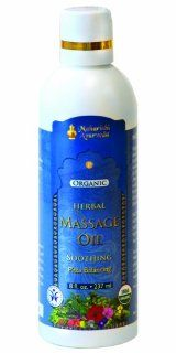 Soothing Herbal Massage Oil, 8 fluid oz (237ml)  Beauty