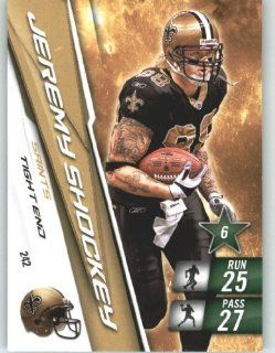 2010 Panini Adrenalyn XL NFL Football Trading Card # 242 Jeremy Shockey   New Orleans Saints in Protective Screwdown Case Sports Collectibles