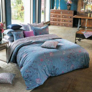 1100TC Sateen Vintage Blue, Purple & Hot Pink Floral Duvet Cover Set   Queen   Pink And Purple Queen Bed Sets