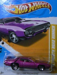 Hot Wheels 2012 Hw Premiere Magenta '71 Plymouth Road Runner 6/247 Toys & Games
