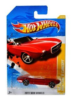 "Mattel Year 2010 HotWheels ""2011 NEW MODELS"" Series Set (14/50) 164 Scale Die Cast Car (14/244)   Metallic Red Convertible Classic Sports Coupe '63 FORD MUSTANG II CONCEPT (V5556) Toys & Games"