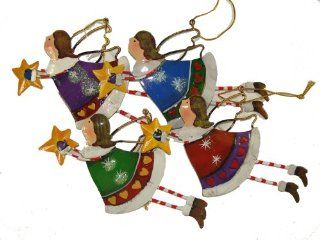 "Club Pack of 288 Flying Angel with Star Christmas Ornaments 6""   Decorative Hanging Ornaments"