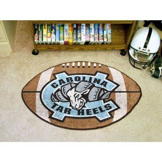 "Fanmats Ncaa UNC North Carolina 2400 Chapel Hill College Sports Fan Team Logo Home Decorative Football Shaped Area Rug Welcome Floor Mat Rug 22""x35""  Sports Fan Car Floor Mats  Sports & Outdoors"