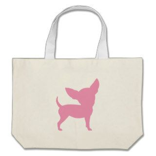 Pink Funny Chihuahua Canvas Bag