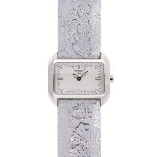 Tissot Women's T023.309.16.031.02 T Wave White Dial Leather Strap Watch at  Women's Watch store.