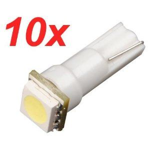 10pcs T5 286 5050 SMD LED Car Wedge Speedo Dashboard Light Sidelight Bulb White Automotive