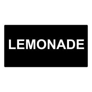 Lemonade White on Black Engraved Sign EGRE 16827 WHTonBLK Catering  Business And Store Signs