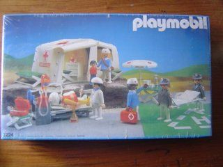 Playmobil Rescue Set   Field Hospital (3224) Toys & Games