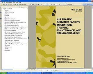 U.S. Army FM 3 04.303 Air Traffic Control Services Facility Operations, Training, Maintenance And Standardization, Military Airport Field Manual Guide Book Regulations on CD ROM