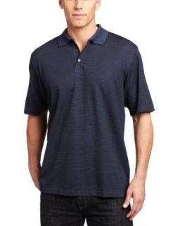 Van Heusen Men's Micropoly Stripe Polo Shirt, Blue Marine Corp, Large at  Men�s Clothing store