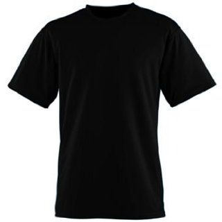 Youth Wicking/Antimicrobial T Shirt   BLACK   MEDIUM Clothing