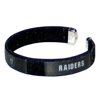 Oakland Raiders NFL Fan Band Cuff Bracelet  Sports Fan Bracelets  Sports & Outdoors