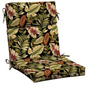Hampton Bay Twilight Palm High Back Outdoor Chair Cushion AC32062X 9D1