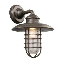Hampton Bay 1 Light Outdoor Oil Rubbed Bronze Wall Lantern DYX1691A