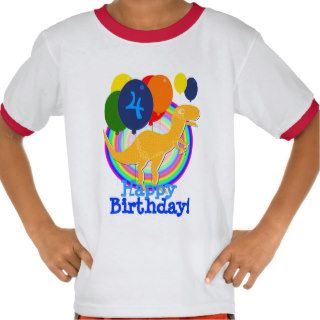 Cute Cartoon T Rex Dinosaur Birthday Balloons T shirt