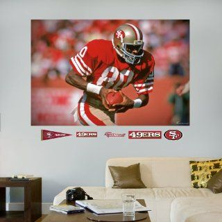 NFL San Francisco 49ers Jerry Rice In Your Face Mural Wall Graphics  Sports Fan Wall Banners  Sports & Outdoors