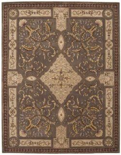 "Nourison Rugs VERSAILLES PALACE VP05 MUSHROOM 2'3"" x 8' Runner Area Rugs"