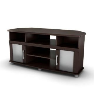 South Shore Furniture City Life chocolate Corner TV Stand 4219690