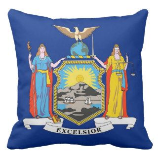 New York State Flag American MoJo Pillow