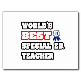 World's Best Special Ed. Teacher Post Card