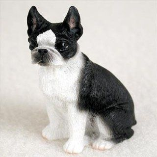 Boston Terrier Miniature Dog Figurine   Collectible Figurines