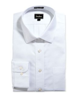 Classic Fit Non Iron Poplin Dress Shirt, White