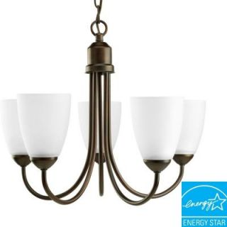 Progress Lighting Gather Collection 5 Light Antique Bronze Chandelier P4441 20EBWB