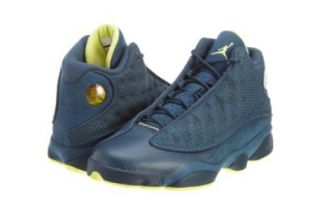 Mens Nike Air Jordan Retro 13 Basketball Shoes Squadron Blue / Electric Yellow / Black 414571 405 Size 12 Shoes