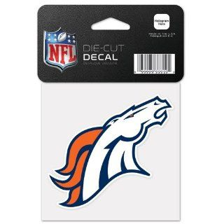 Denver Broncos Logo Die Cut 4x4 Decal  Sports Fan Wall Decor Stickers  Sports & Outdoors