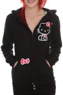 Hello Kitty Black Zip Hoodie Size  X Large Clothing