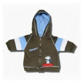 "Snoopy ""Flying Ace"" Full zip hooded sweatshirt for infants   24 Months  Infant And Toddler Sweatshirts  Clothing"