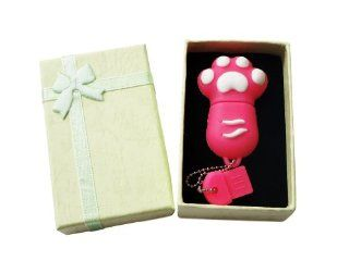 Cute Pink Animal Paw keychain 8GB USB Flash Drive   in Gift box   with GadgetMe Brands TM Stylus Pen and comes in GadgetMe retail packaging Computers & Accessories