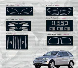 MERCEDES ML ML350 ML550 ML63 CHROME EXTERIOR ACCESSORY ABS MOLDING TRIM KIT SET 2006 2007 2008 Automotive