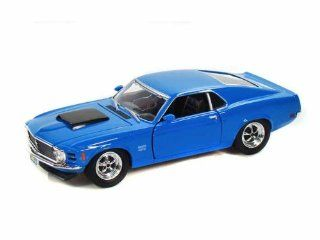 1970 Ford Mustang Boss 429 1/24 Blue Toys & Games