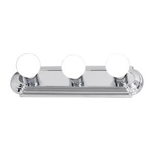 Hampton Bay 3 Light Flush Mount Chrome Raceway Bath Bar Light EW553CH