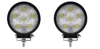 6K LED Universal LED spot lights 18w 12volt off road ATV lighting 4x4 truck lighting Trailer 2 Pack   Led Household Light Bulbs