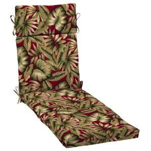 Hampton Bay Chili Tropical Outdoor Chaise Lounge Cushion AB80853X 9D1