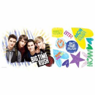 RoomMates Big Time Rush Peel and Stick Giant Wall Decal RMK1579GM