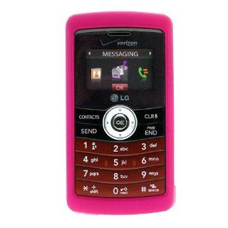 Hot Pink Rubberized Snap On Crystal Hard Case for Verizon LG enV3 VX9200 Cell Phone Cell Phones & Accessories