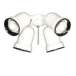 TroposAir 463 Indoor Outdoor Spotlight Pure White Ceiling Fan Light 637