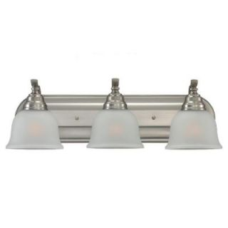 Sea Gull Lighting Wheaton 3 Light Brushed Nickel Vanity Fixture 44627BLE 962