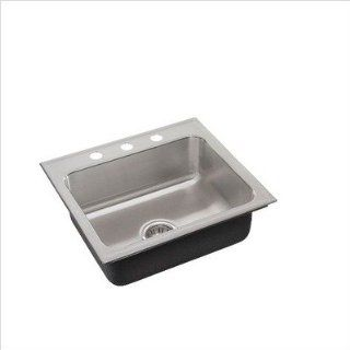 Just SL ADA 1921 A GR 3 5.5 DCR ADA Compliant Single Bowl 18 Gauge T 304 Stainless Steel Commercial Grade Drop In Sink