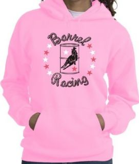 Barrel Racer Stars Horse & Rider Pink Hoodie Clothing