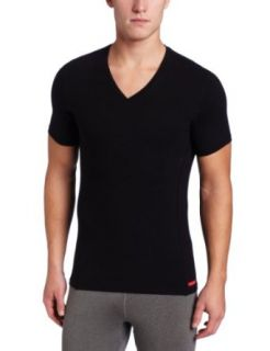 Calvin Klein Men's Prostretch Slim Fit V Neck Tee at  Men�s Clothing store