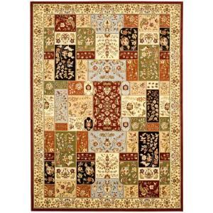 Safavieh Lyndhurst Assorted/Ivory 7 ft. 9 in. x 10 ft. 9 in. Area Rug LNH318A 8