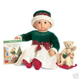 American Girl Bitty Baby Evergreen Holiday Set Dress Hat Tights Shoes Toy Horse Toys & Games